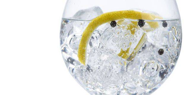 Gin and Tonic Closeup