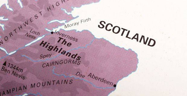 Map of North East of Scotland - Speyside