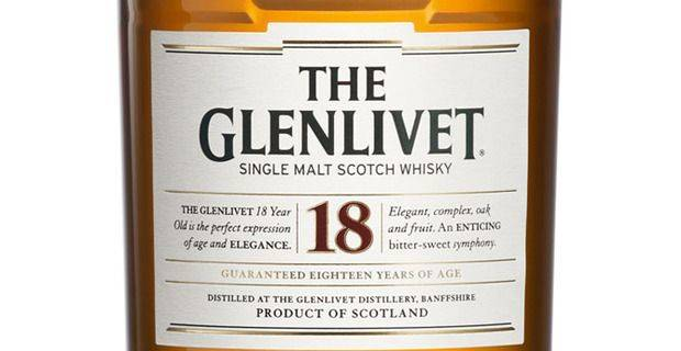 Malt Whisky Glenlivet 18 Year Old - Pernod Ricard