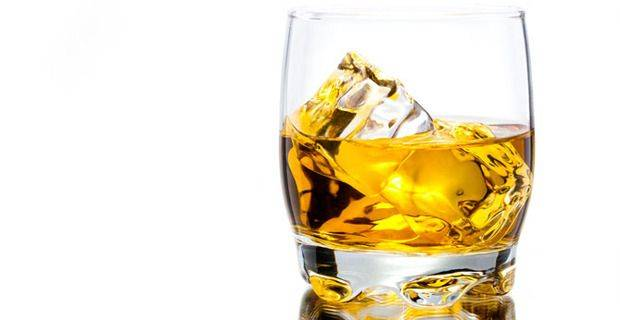 Glass of Maly Whisky on Ice