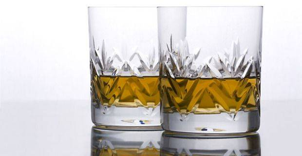 Malt Whisky in Crystal Glasses